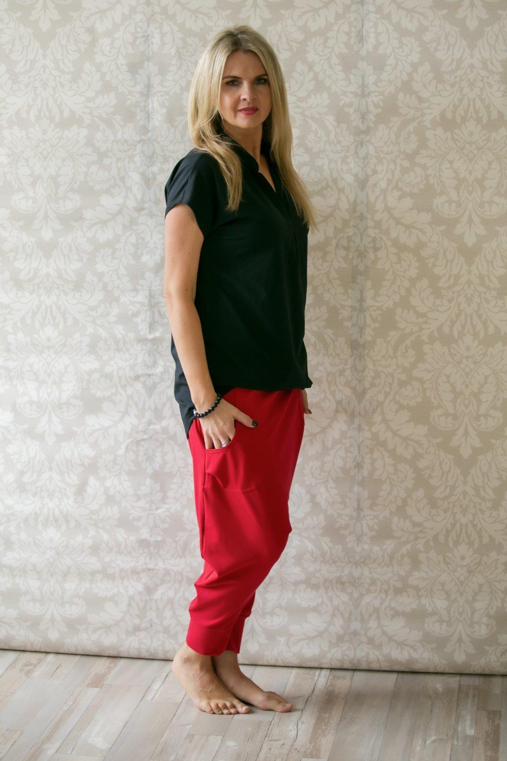 Oblíbená košilová tunika / Černá