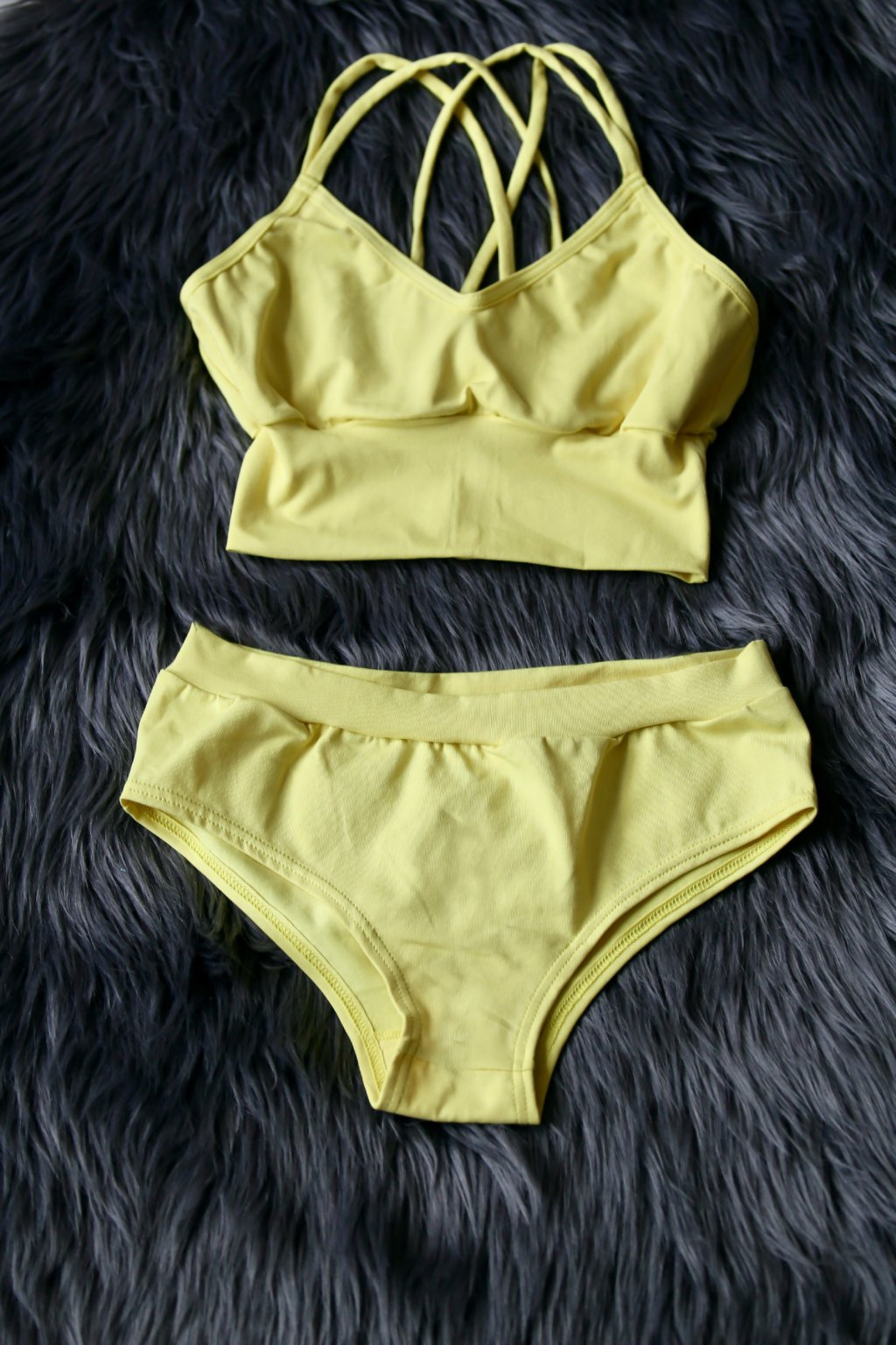 Set podprsenka Sachmet a kalhotky Elaine / Žlutá