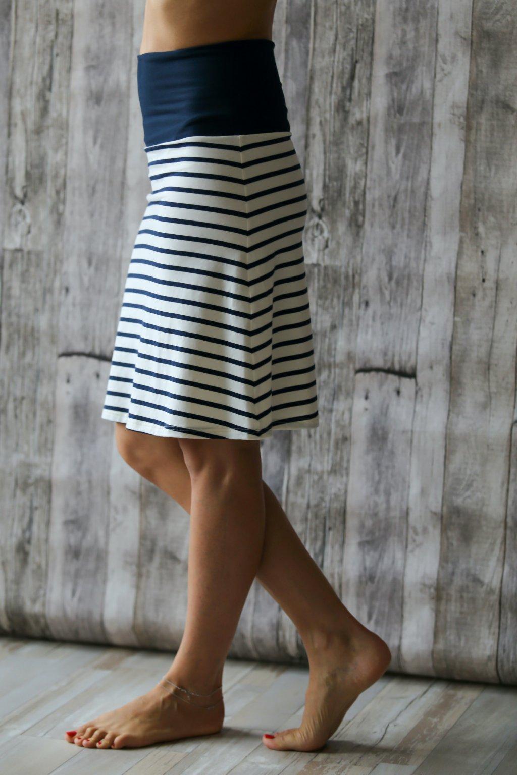 Lehká sukně Aine / Navy pruh