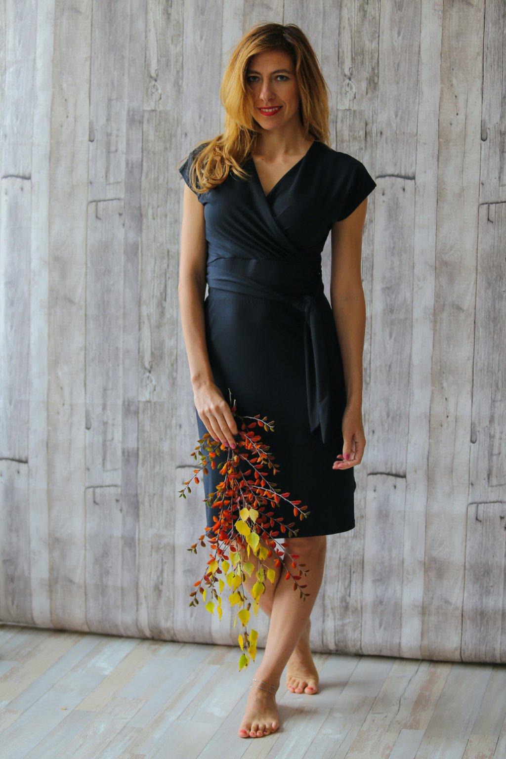 Šaty Nina s páskem / Černá