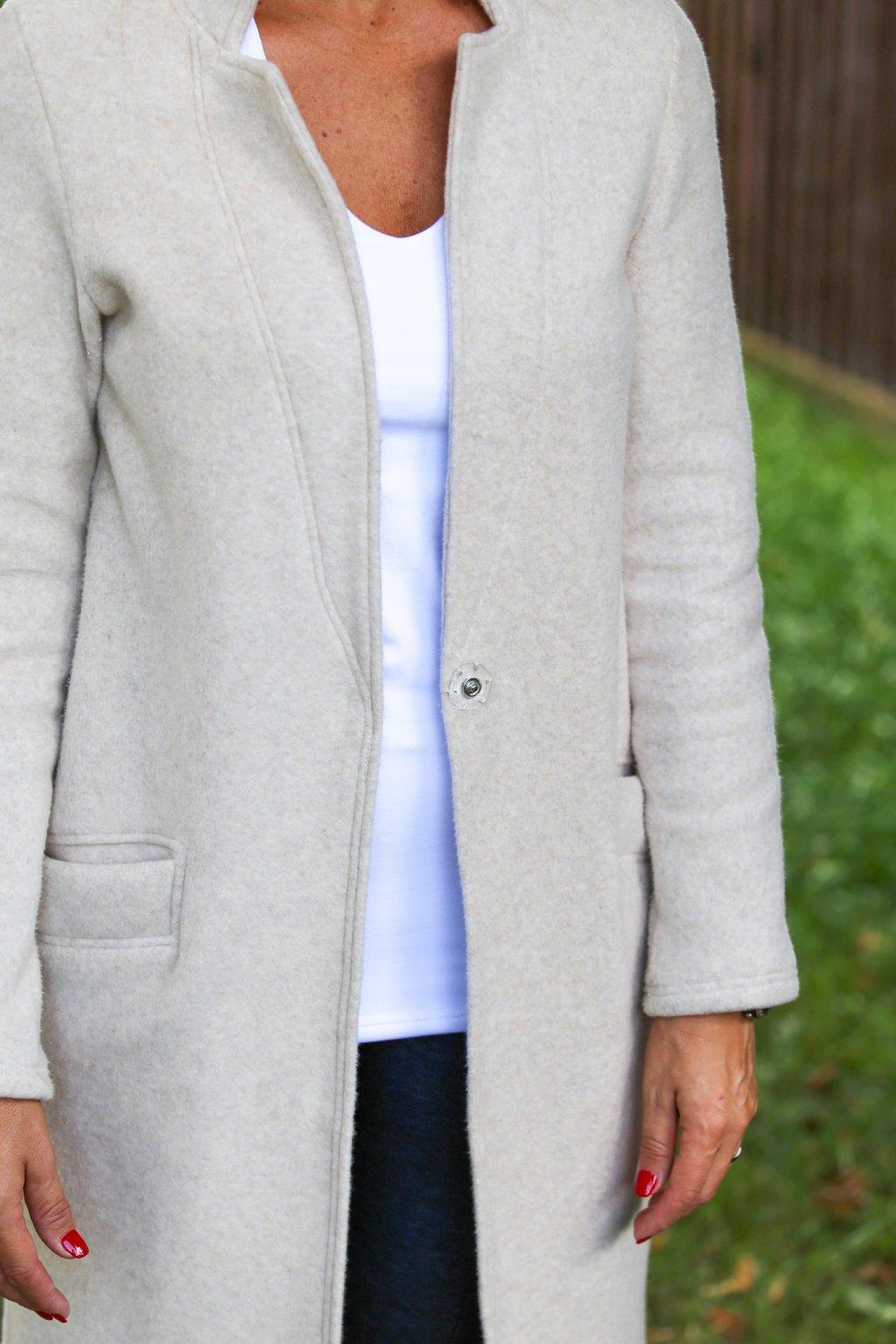 Šmrncovní kabát Psyché  / Béžový fleece