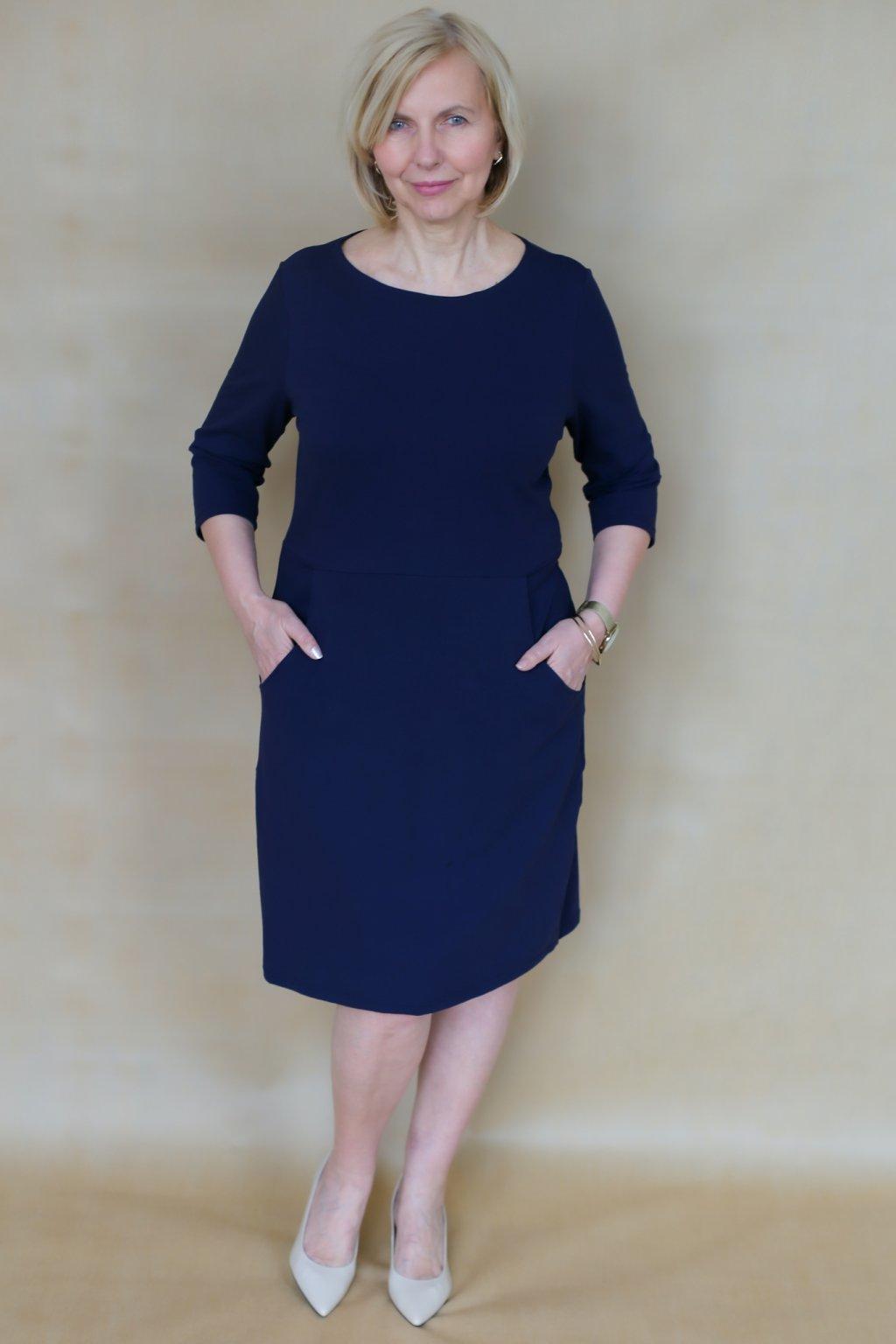 Lodičkové šaty s kapsami Danaí / Navy