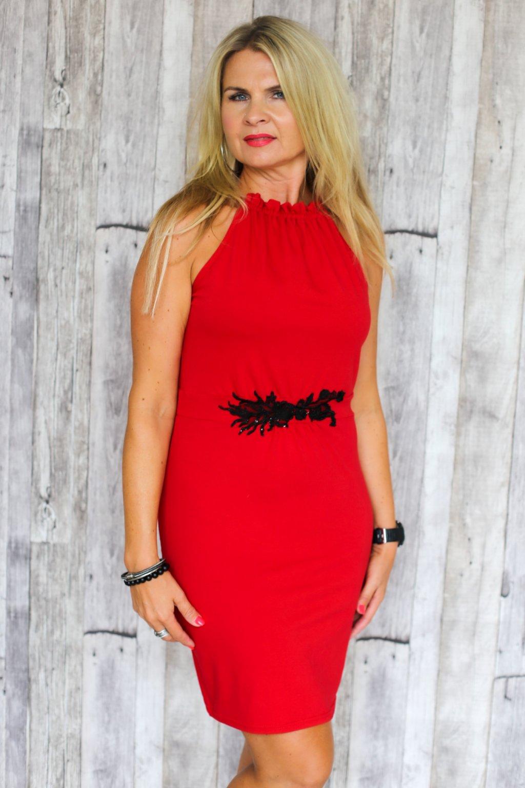 Řasené šaty Sulis / Rituals / Červená