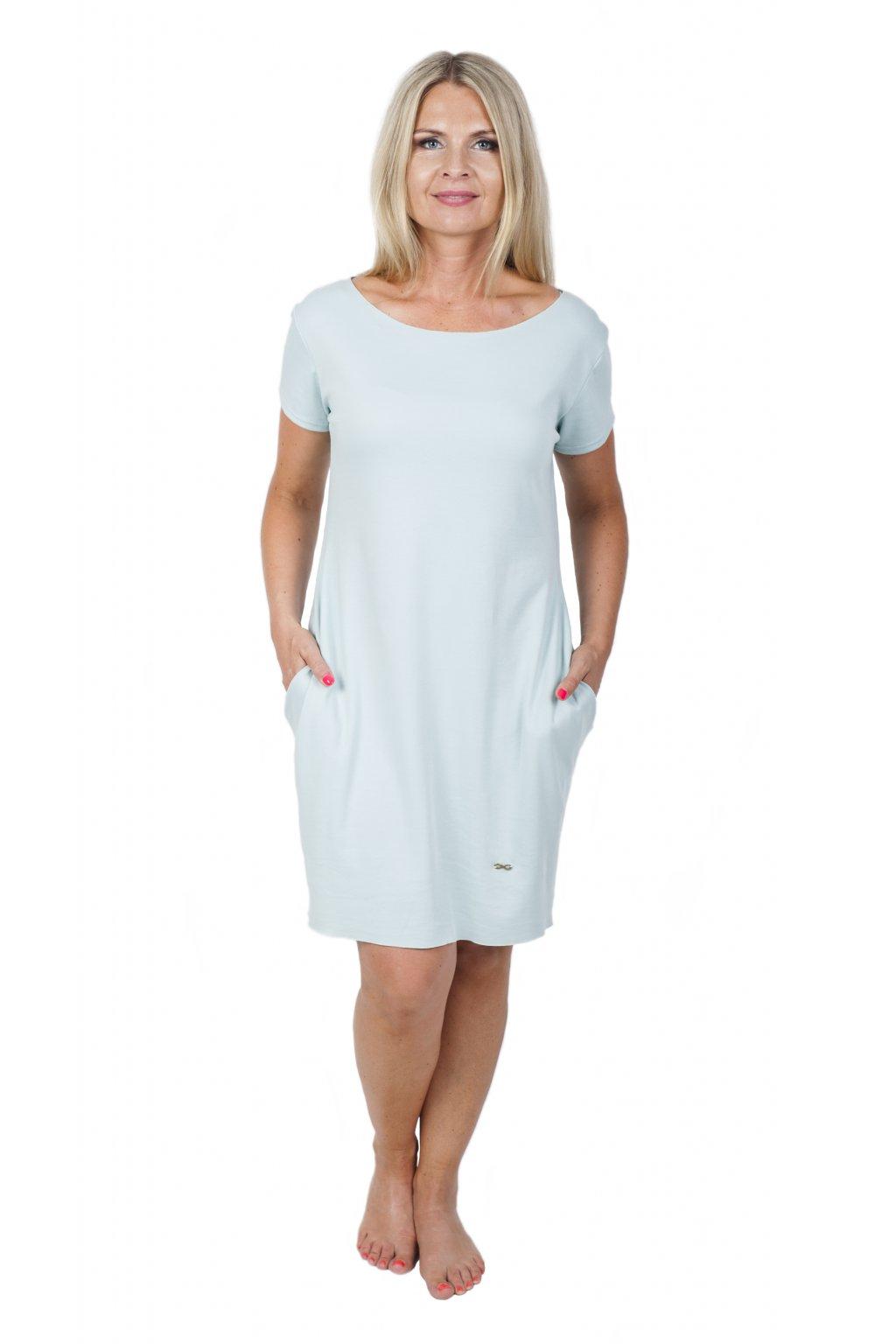 Božské šaty Afrodité s krátkým rukávem / Mint