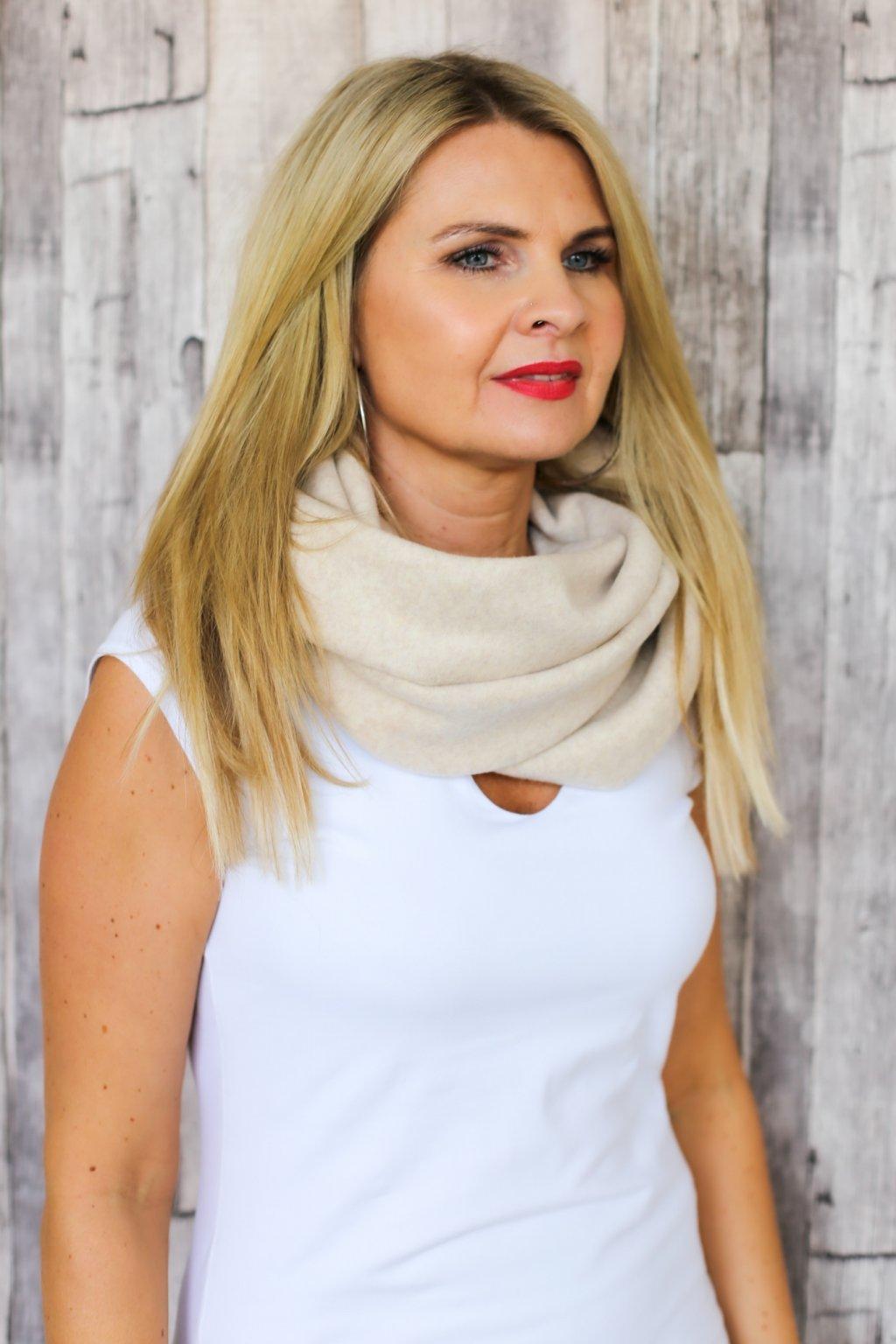 Elegantní nákrčník Minerva Fleece / Béžový fleece