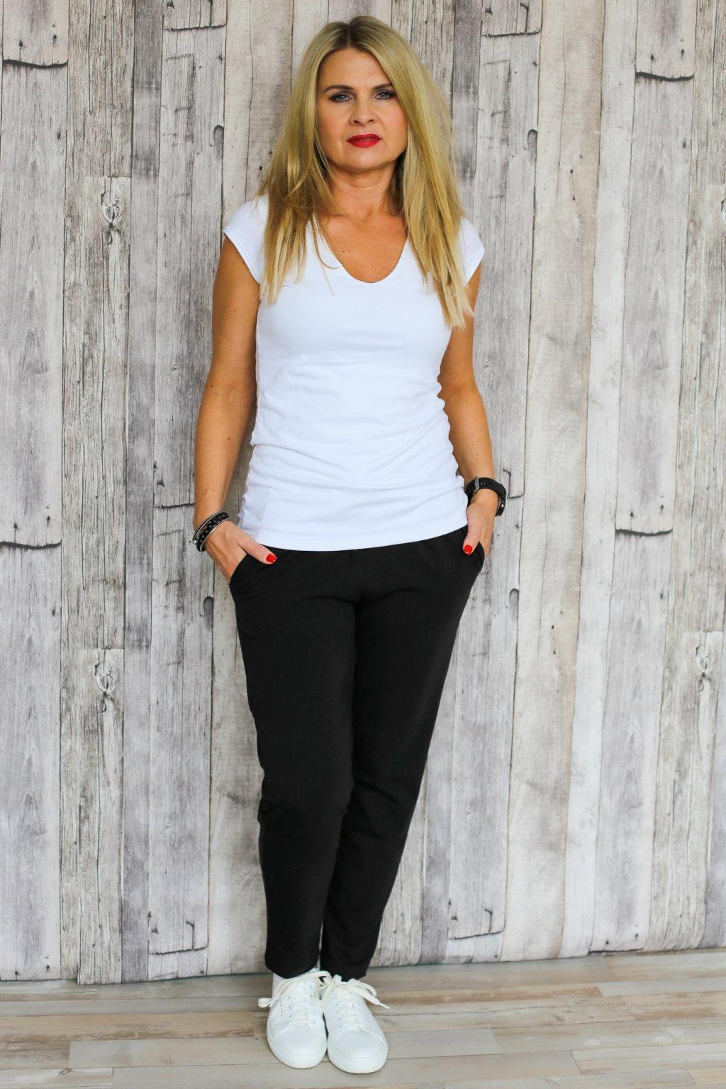 Kalhoty Áté / Černá teplákovina