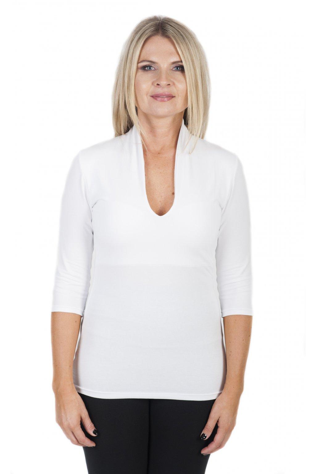 Japonské tričko Inari s 3/4 rukávem / Bílá