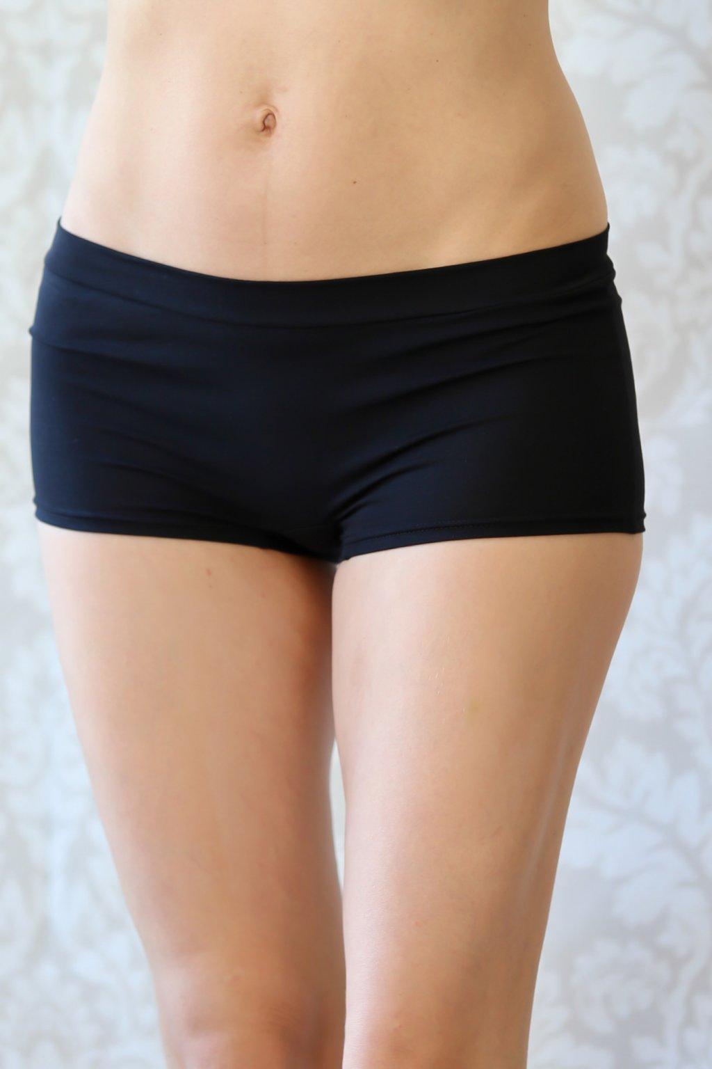 Kalhotky Elaine s nohavičkou / Černá