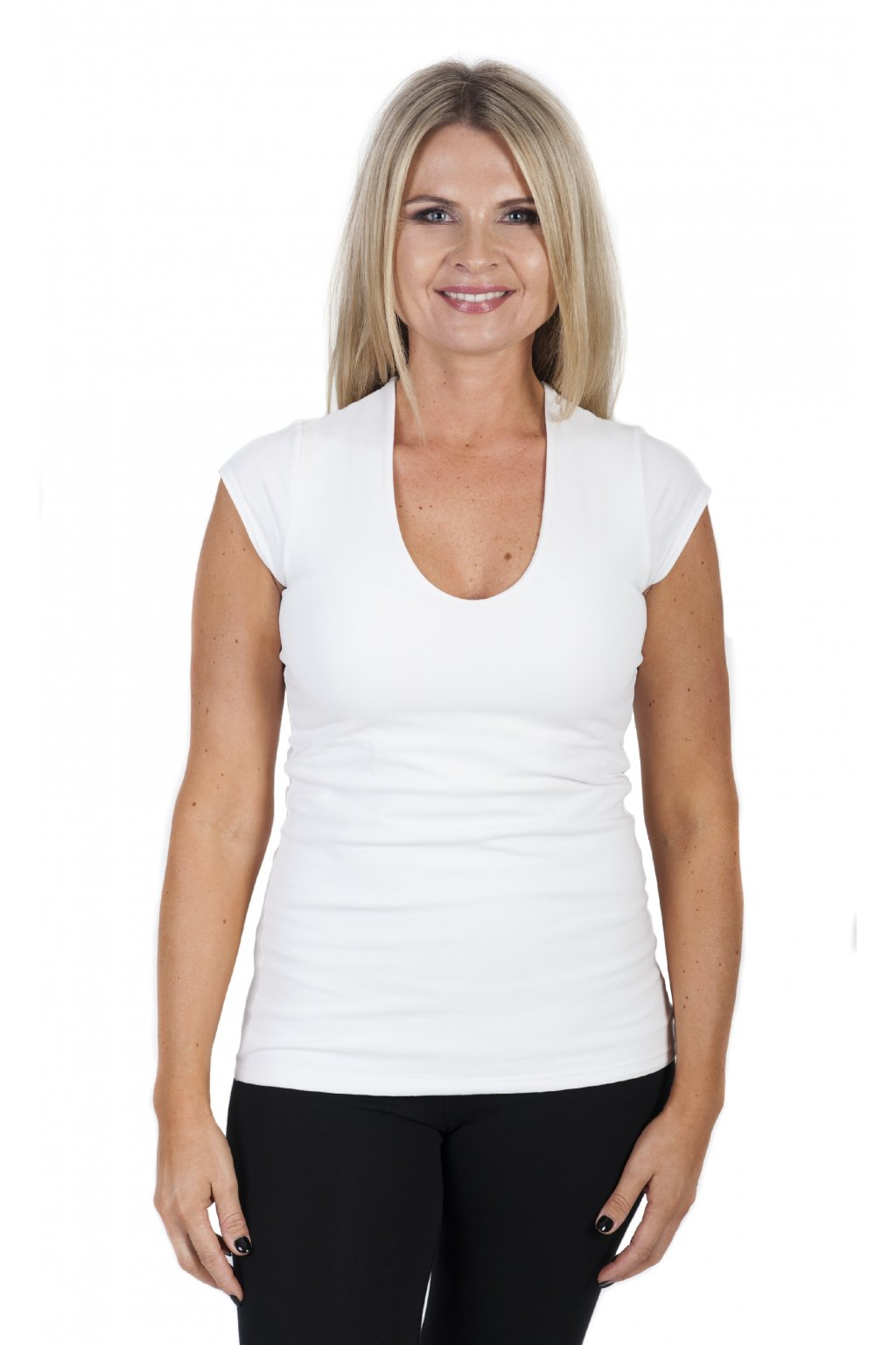 Pohodlné tričko Yamanaya / Bílá
