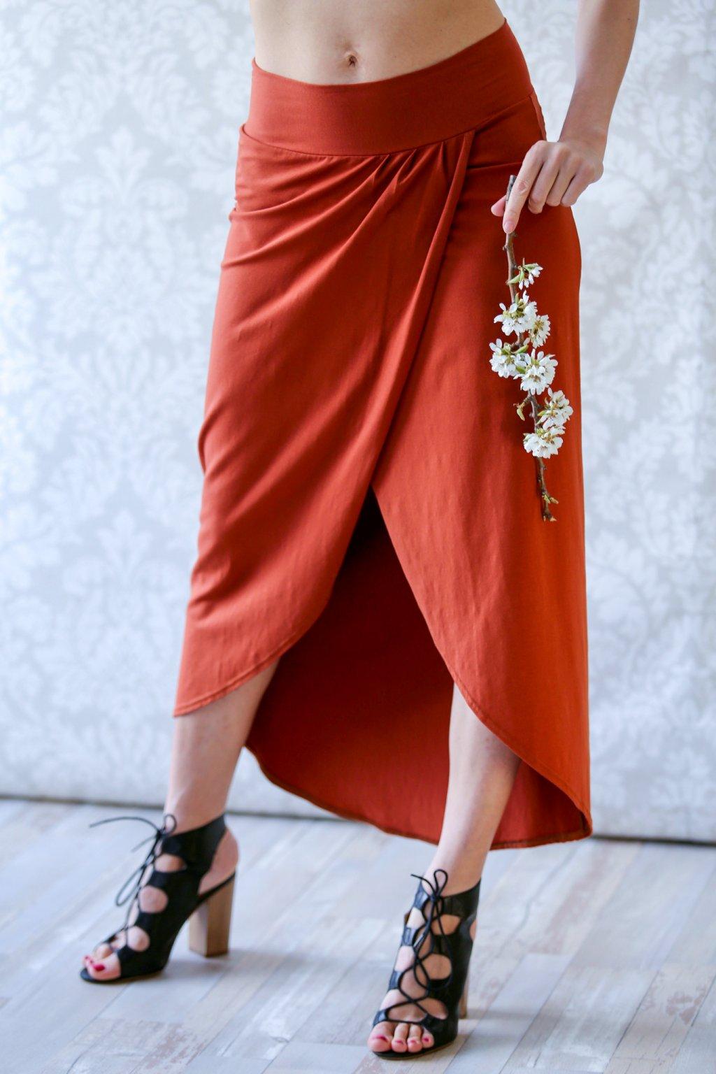 Zavinovací dlouhá sukně Vesna / Henna