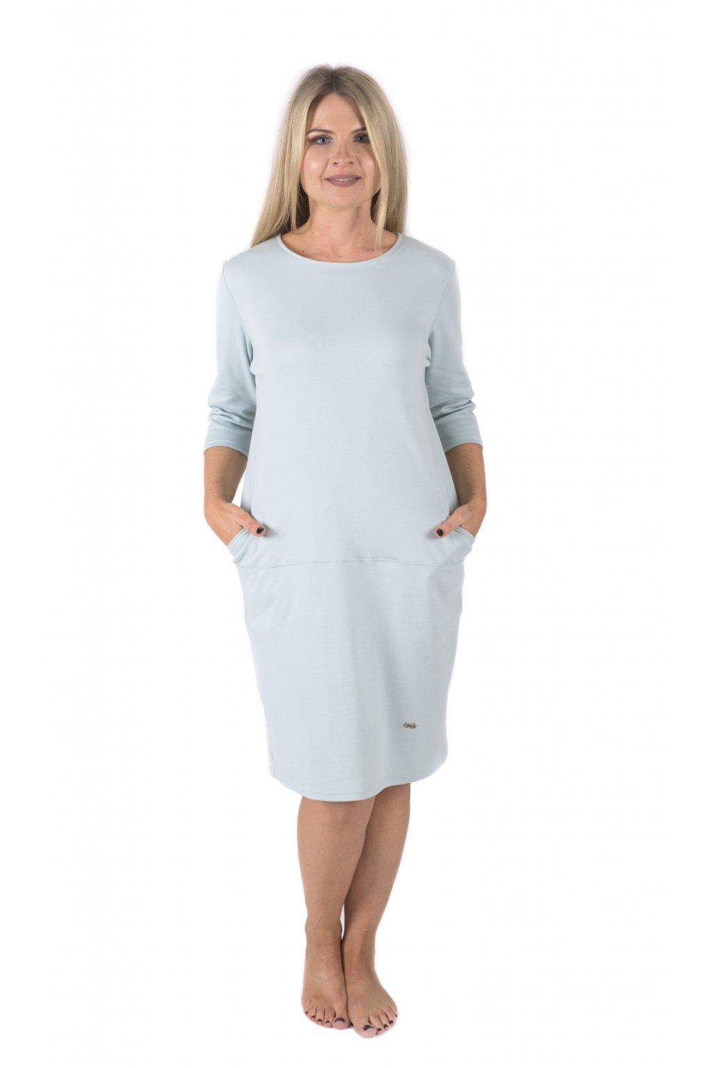 Ženské splývavé šaty Louisa / Mintová