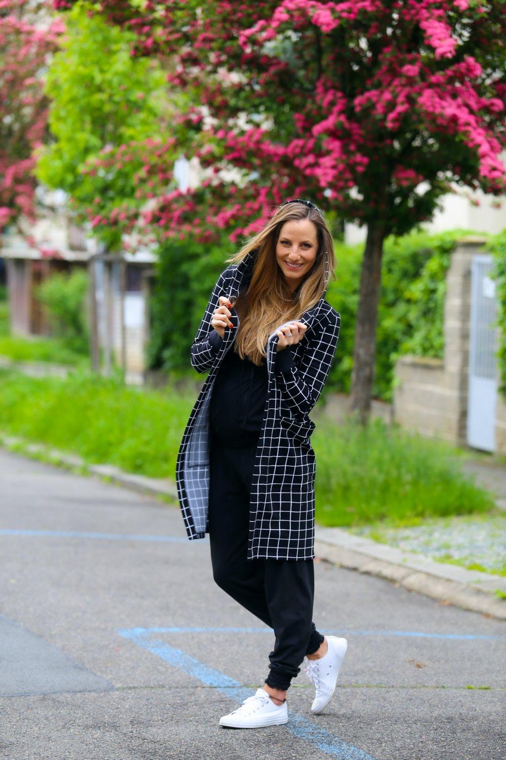 Dlouhý kalhotový overal Oonagh / Černá