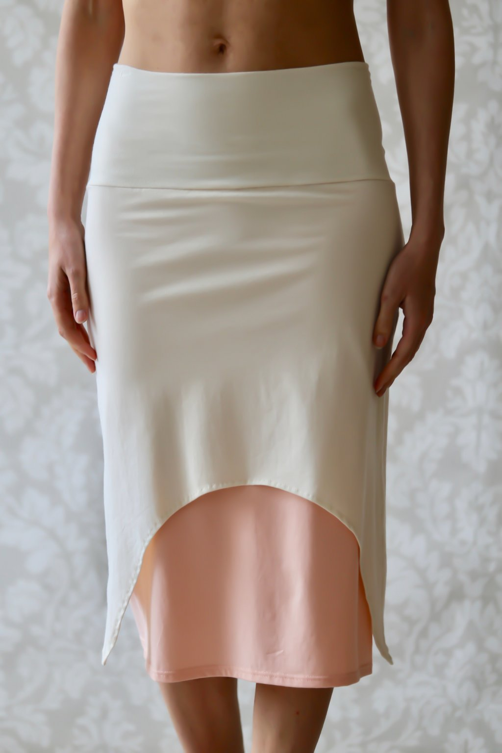 Dvojitá sukně Freya / Champagne-Meruňková