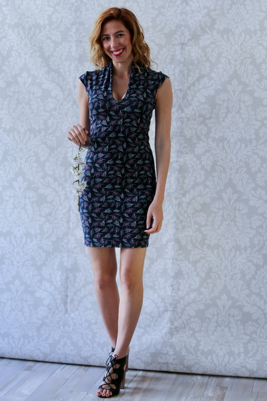 Výprodej - Japonské šaty Izanami / Stromečky