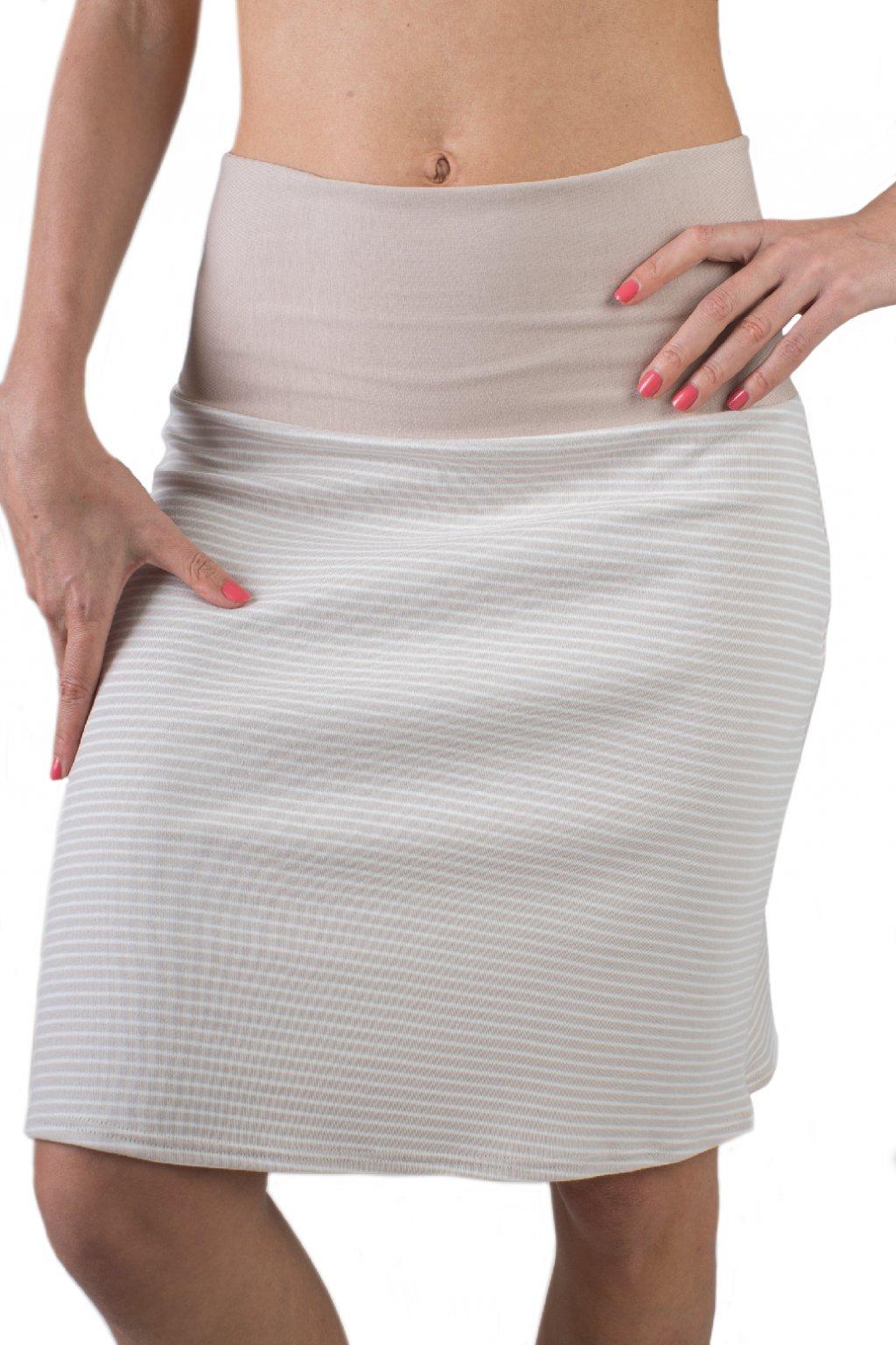 Lehká sukně Aine / Cappuccino pruhovaná