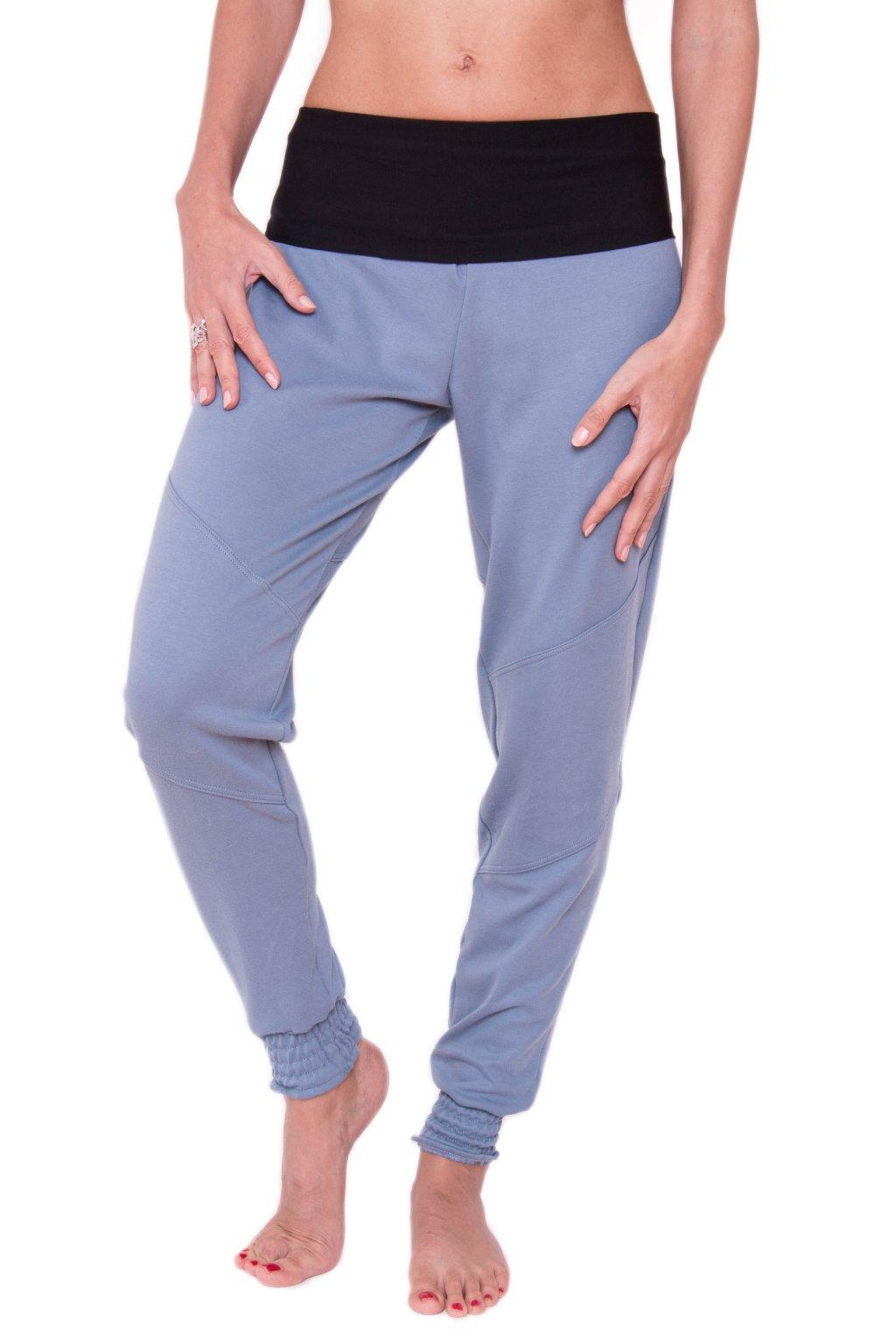 Pohodové kalhoty Bast / Šedomodrá s černou