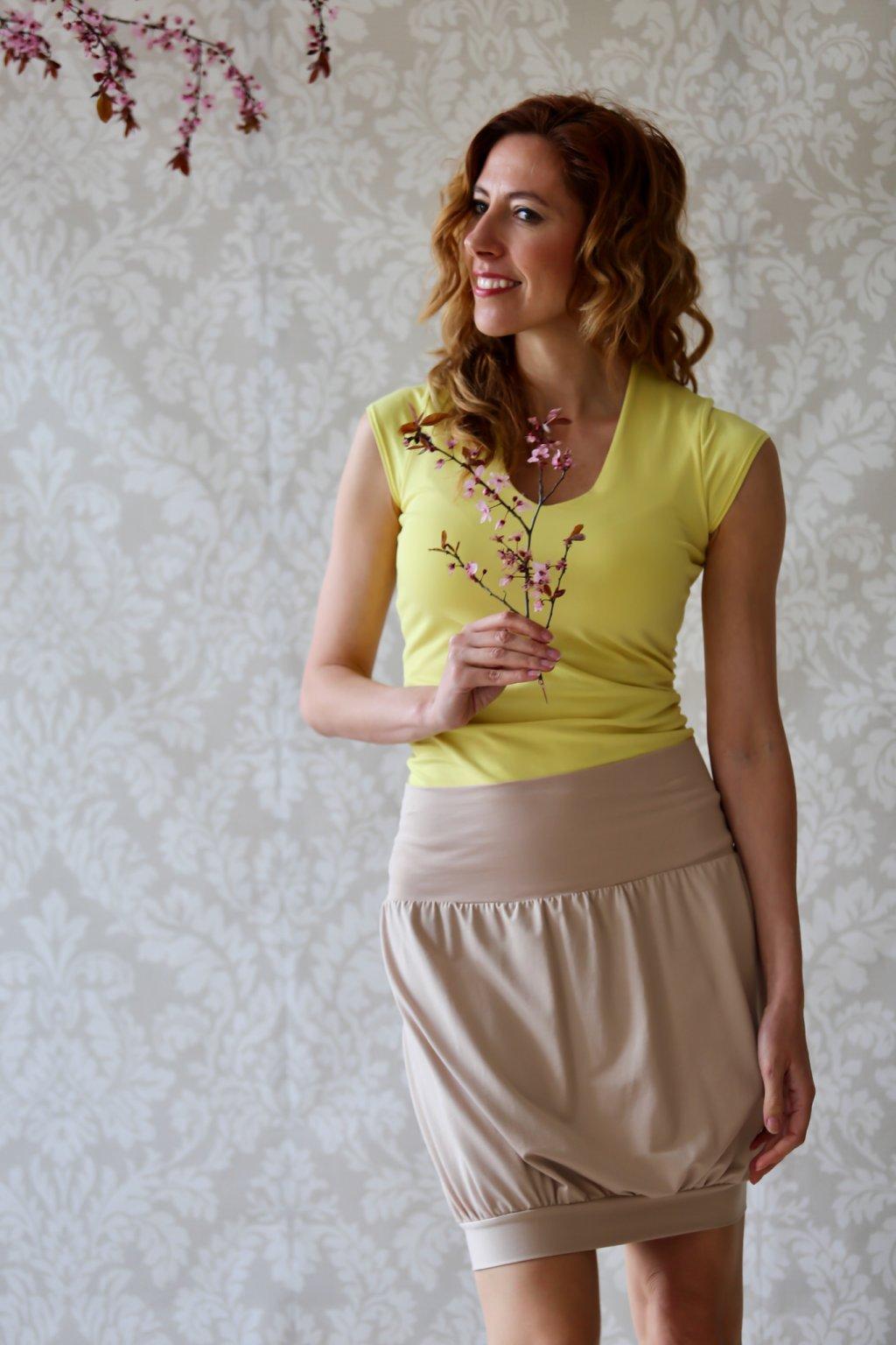 Soudková sukně Boann / Cappuccino