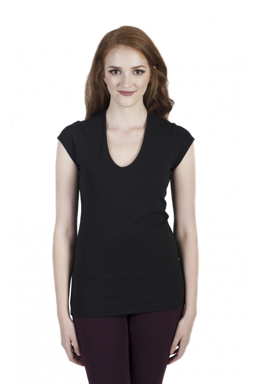 Pohodlné tričko Yamanaya / Černá