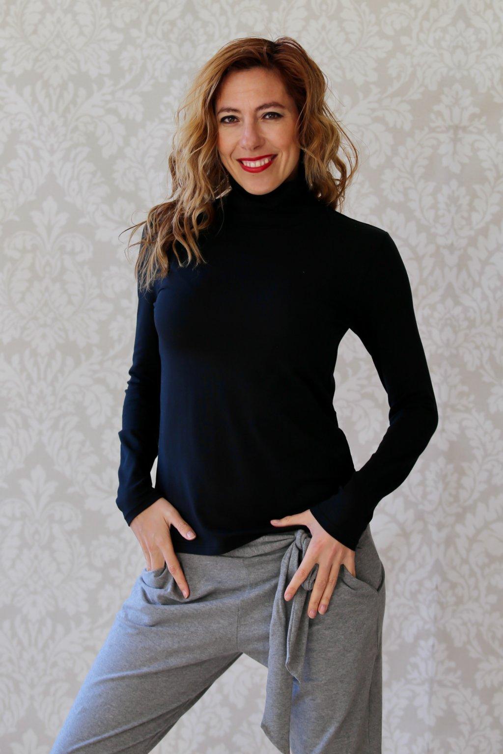 Lehký rolák Elsa - Černá