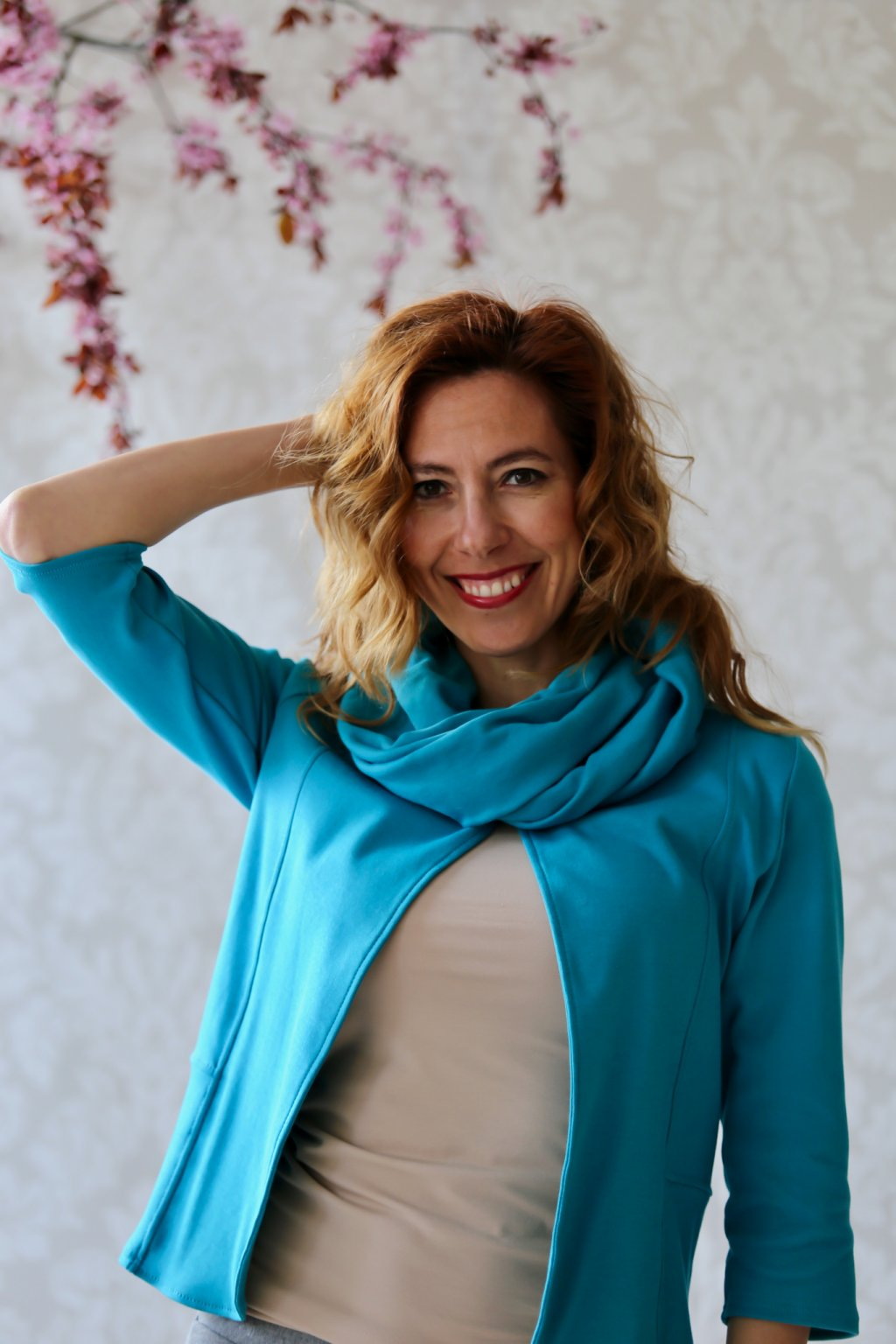 Elegantní nákrčník Minerva / Modrozelená