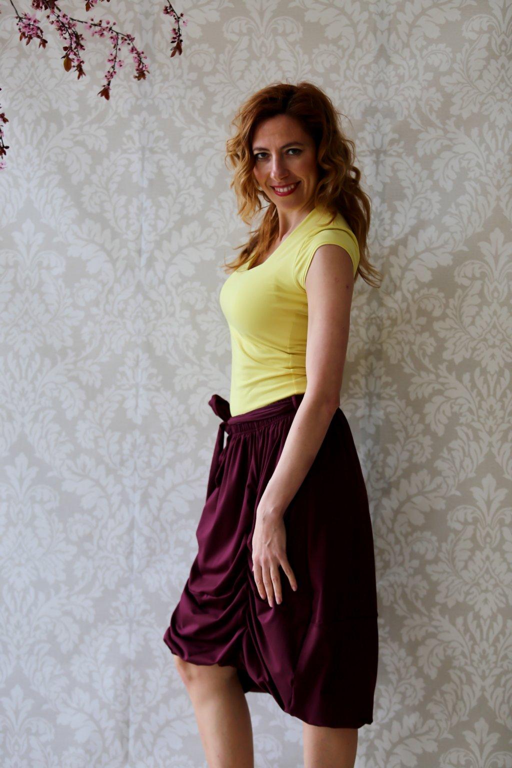 Dlouhá balónová sukně Astraia / Bordó