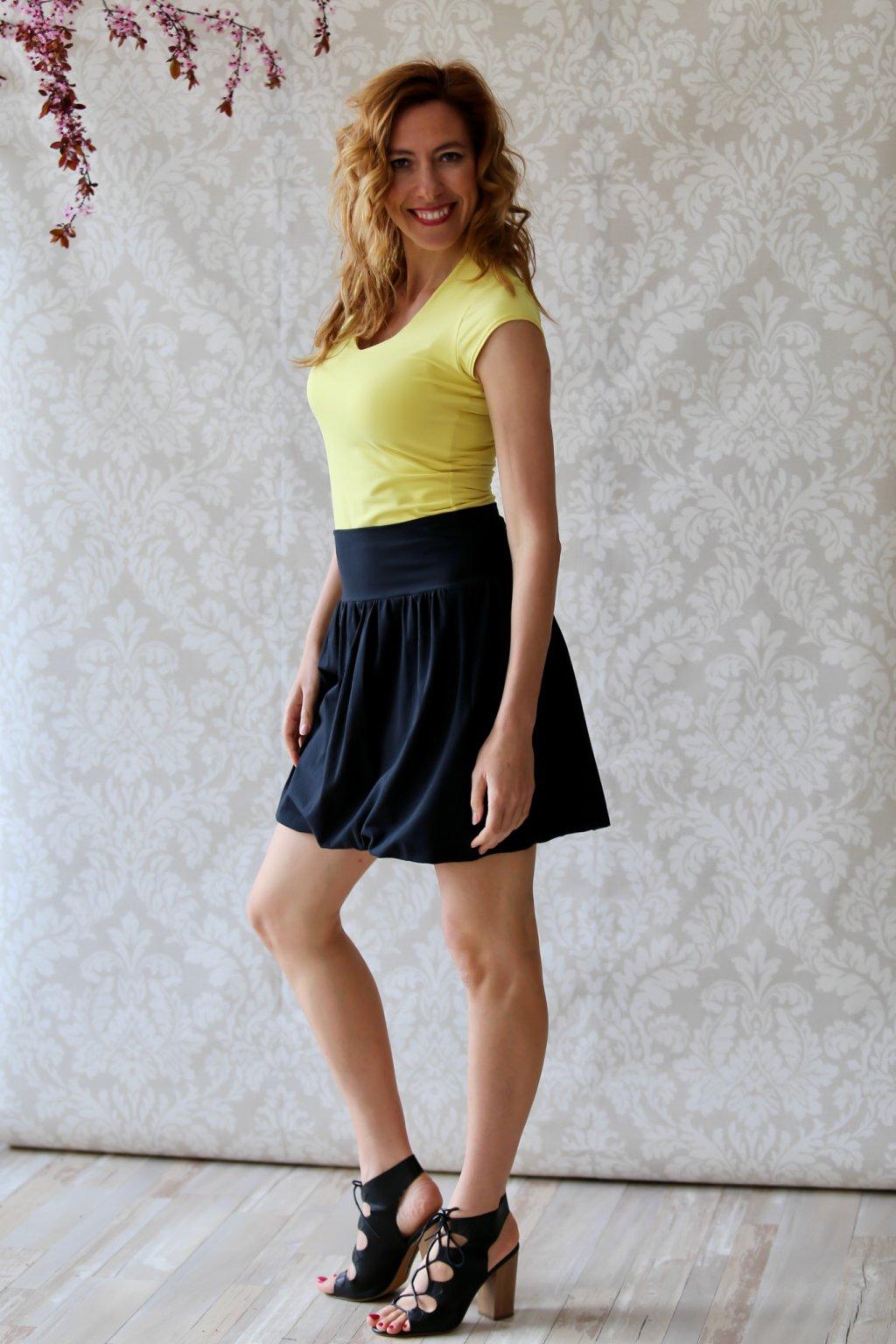 Krátká balónová sukně Apaté / Černá
