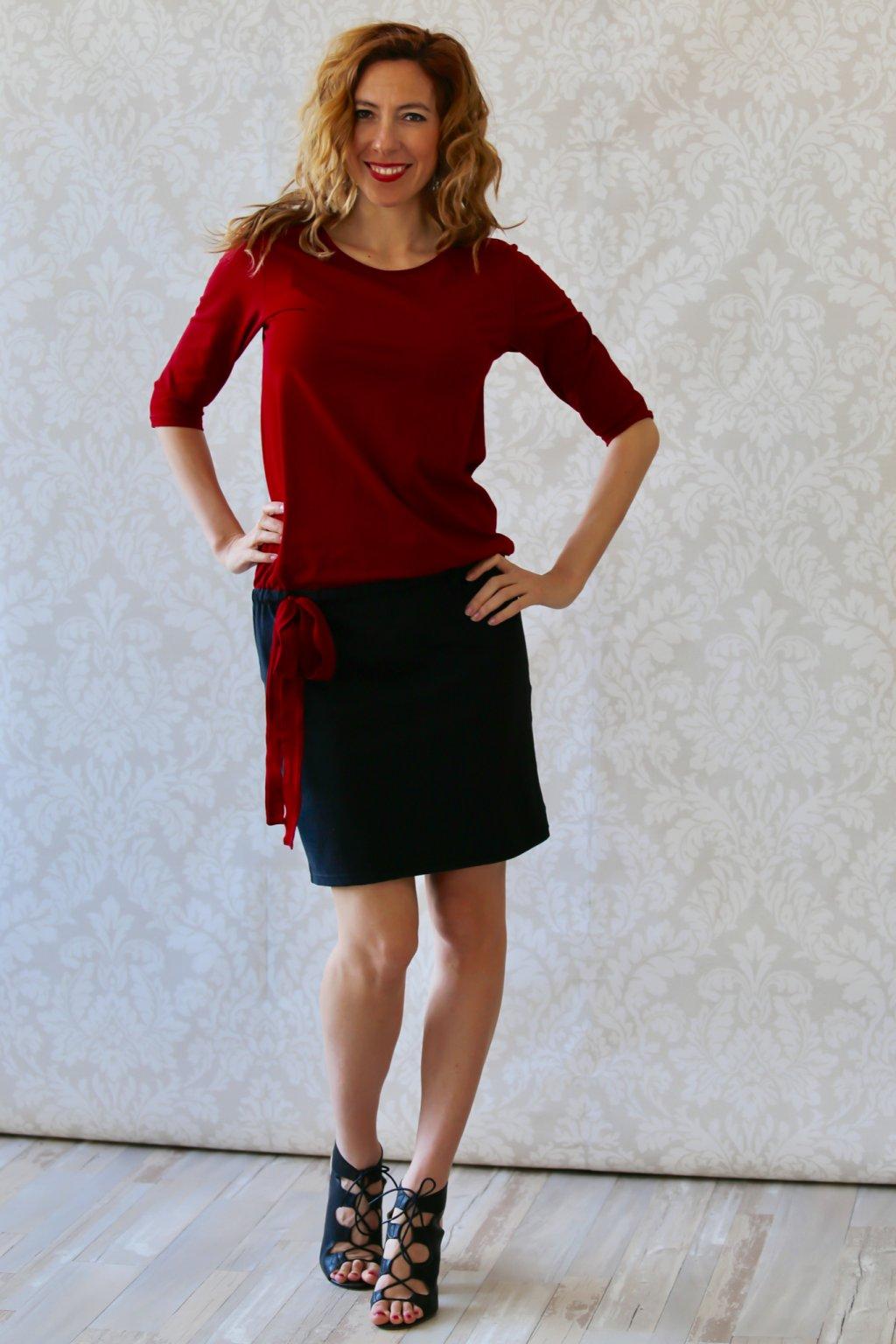 Šaty se stuhou Héra / Chilli a černá