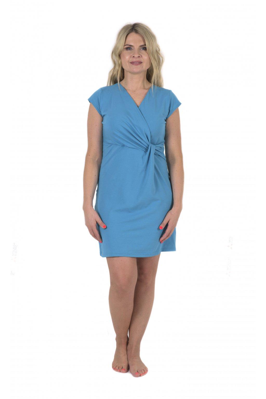 Šaty s překřížením Delia / Tyrkysová