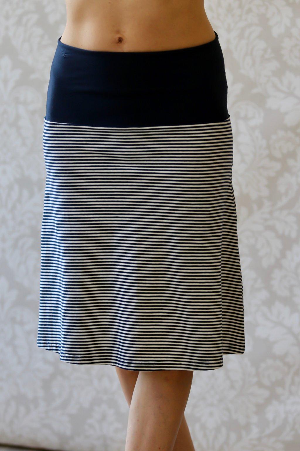 Lehká sukně Aine / Navy proužek
