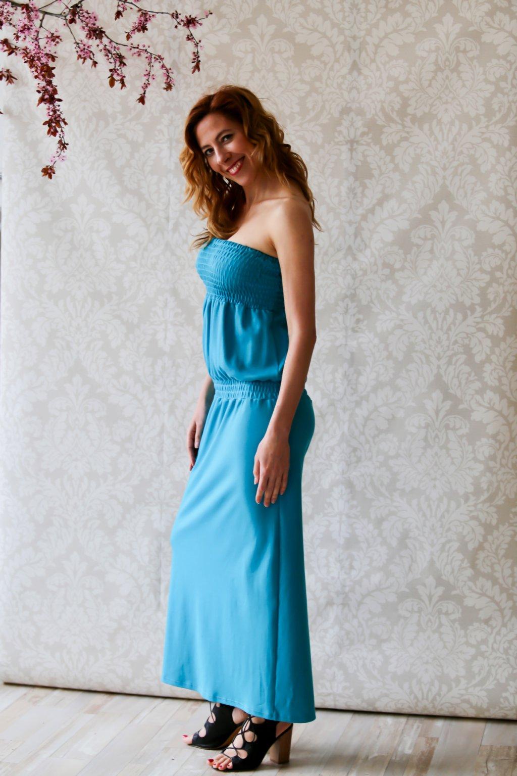 Overal s dlouhou sukní Marie / Modrozelená