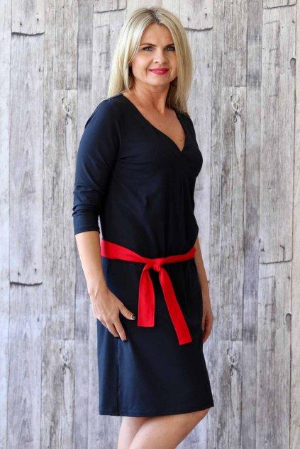 Šaty s originálním výstřihem Agáta / Černá