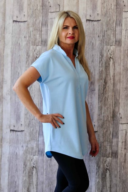 Oblíbená košilová tunika / Blankytná