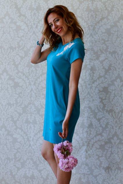 Božské šaty Afrodité s krátkým rukávem / Rituals / Modrozelená