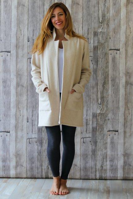 Hřejivý kabát ARTEMIS / Béžový fleece