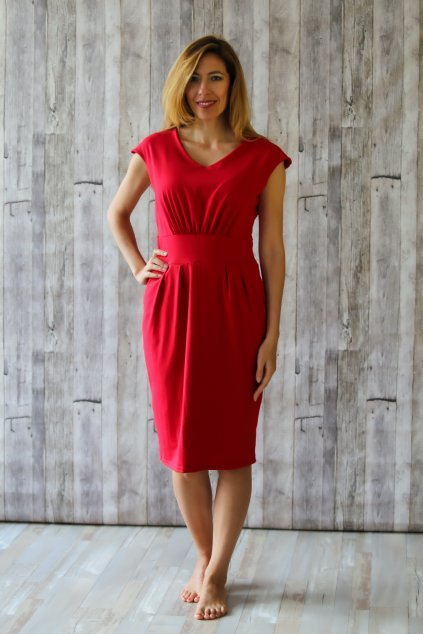 Ženské šaty Izabel s véčkem / Červená