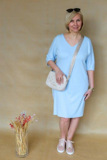 Véčkové elegantní šaty Juno / Blankytná
