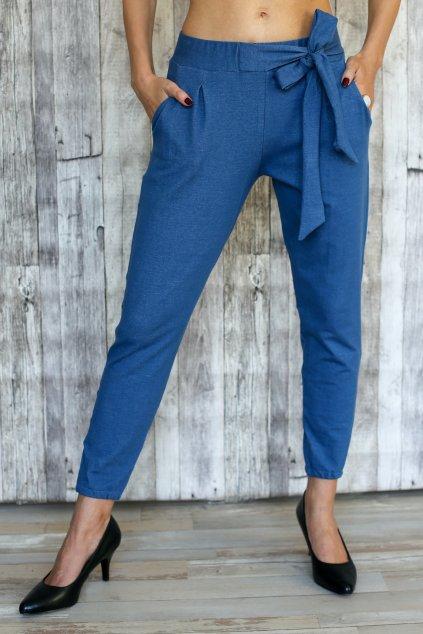 Džínové kalhoty s mašlí Kassandra / Modrý Denim