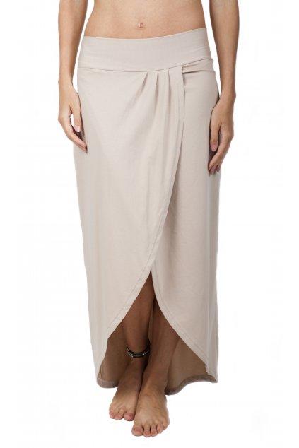 Zavinovací dlouhá sukně Vesna / Cappuccino