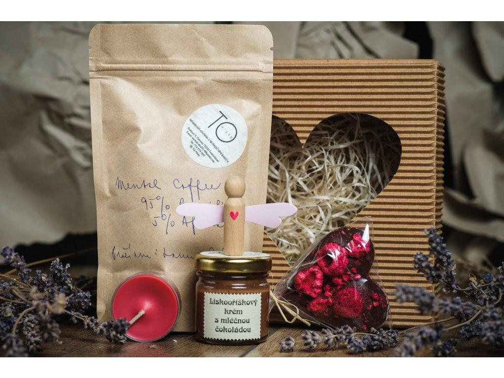 Valentýnská krabička s vůní kávy