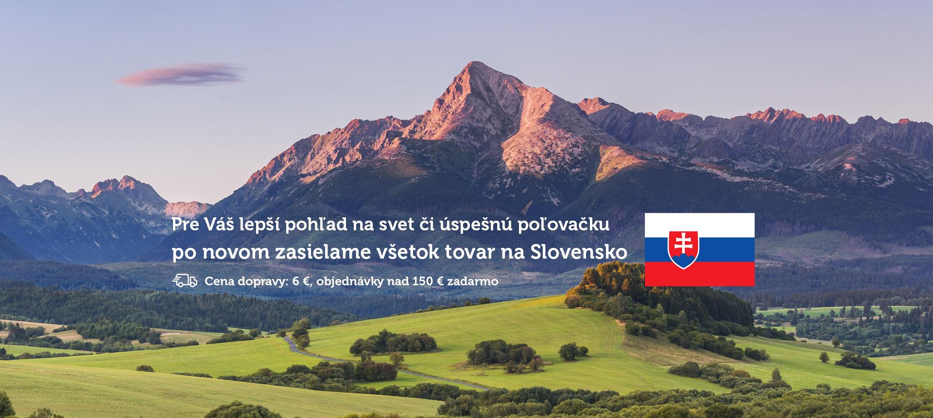 Nově zasíláme na Slovensko
