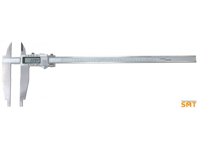 217046  Posuvné měřítko digitální 0-1500/0,01 mm, ramena 200 mm, nože pro vnější měření