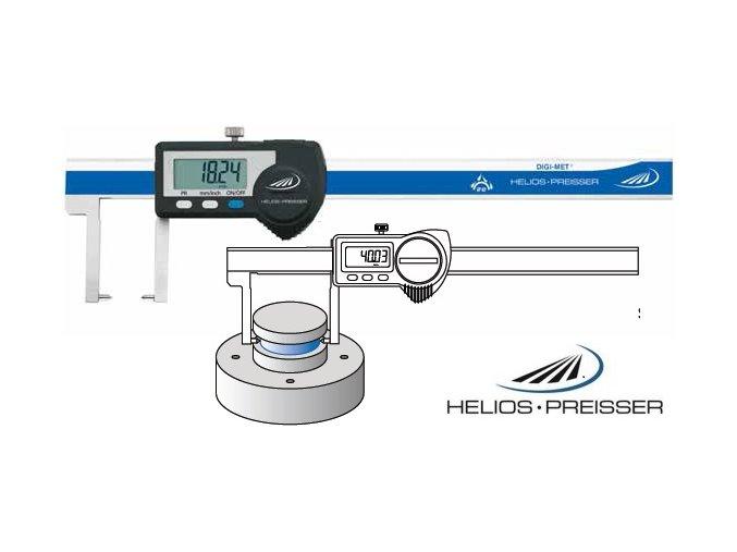 1326904 Posuvné měřítko digitální 0 - 150 mm na vnější zápichy, IP67, Helios-Preisser