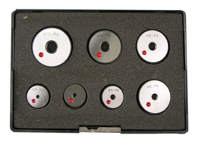 Sada 7 ks Závitové kroužky M3 - M12, Zmetkové, základní stoupání, tol. 6g