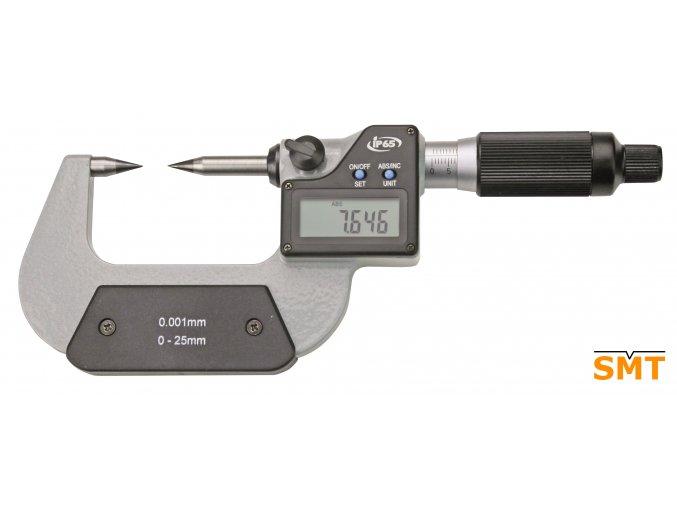 Digitální třmenový mikrometr 0-25/0,001 mm, špičaté doteky