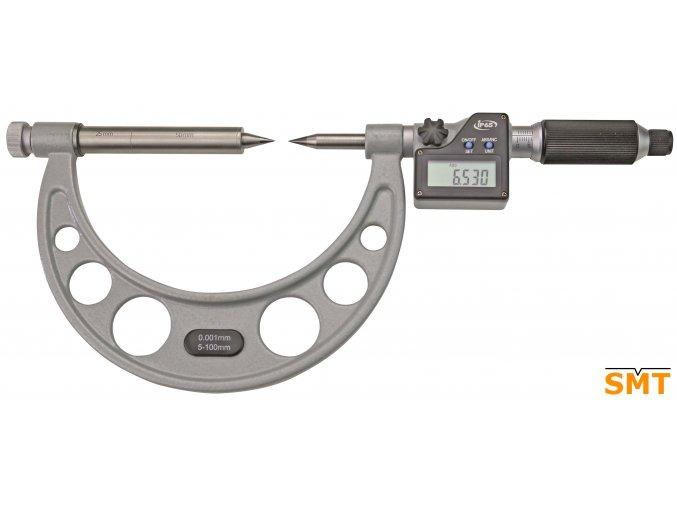 Digitální třmenový mikrometr 5-100/0,001 mm, špičaté doteky