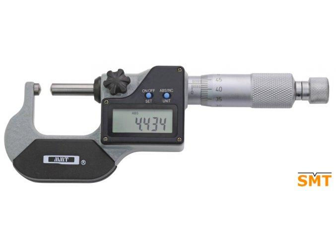 Digitální třmenový mikrometr 0-25/0,001 mm, kulové doteky