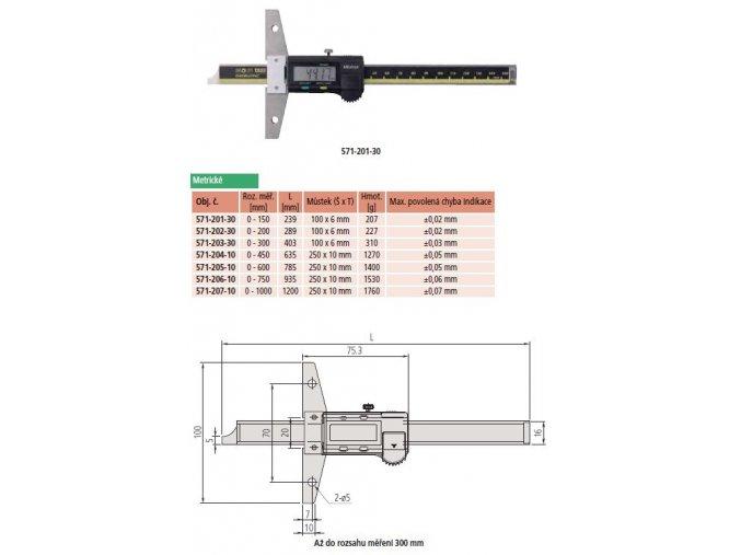 Mitutoyo Hloubkoměr571-206-10