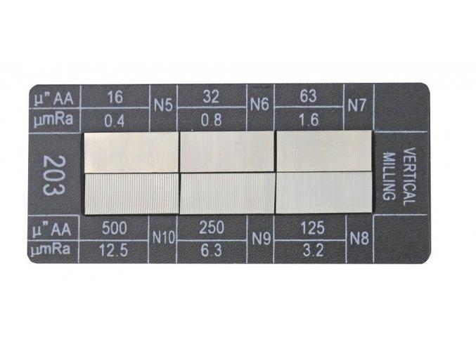 318036.3 Vzorník drsnosti Čelní frézování