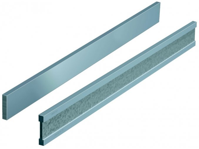 Příměrná pravítka plochá, ocelová, DIN 874 tř.1