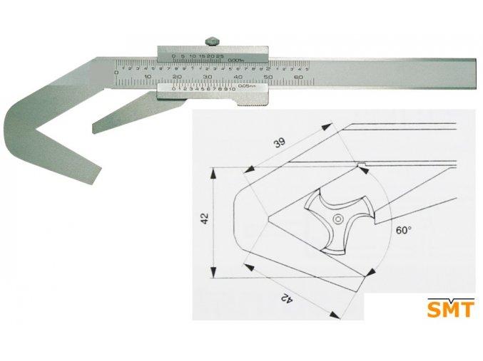 201130 Posuvné měřítko pro tříbřité nástroje